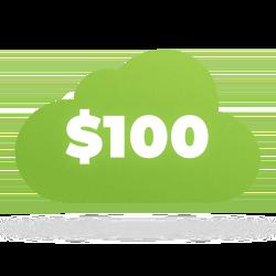 Хмарні акаунти на NIC.UA зкредитом $100